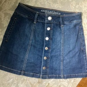 """Jean Skirt with 14.5"""" inch inseam"""
